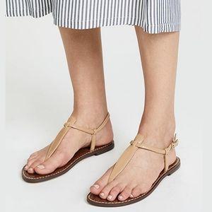 Sam Edelman Tan Patent Leather Gigi Thong Sandals